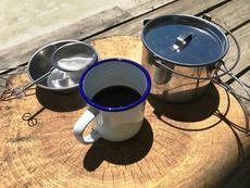無印良品キャンプ場外あそび~茶こしコーヒーでFIKA~