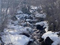 飛騨の雪解け