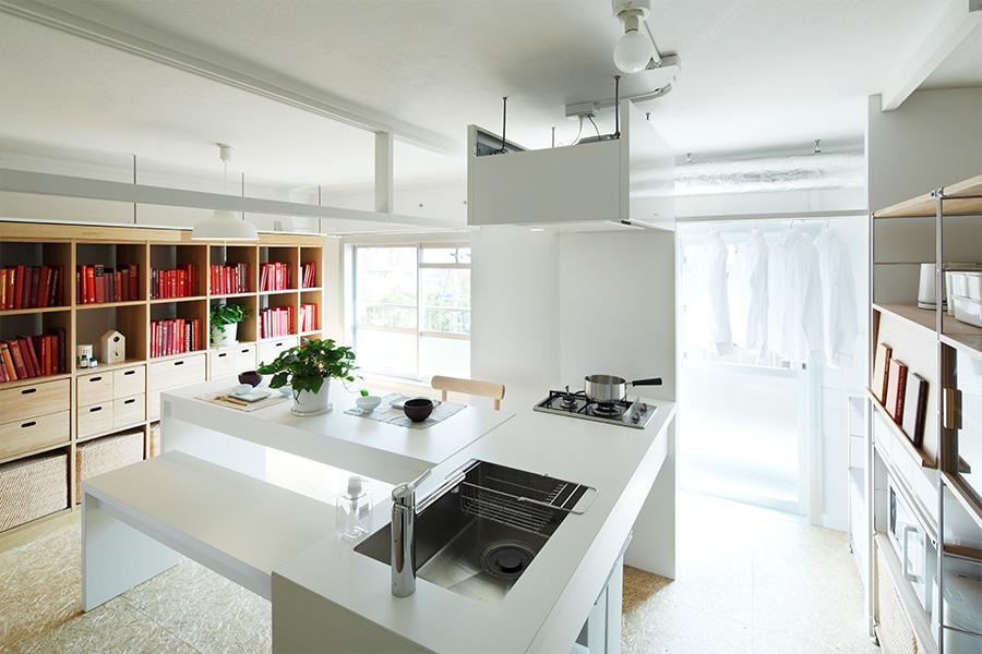 MUJI×UR共同開発商品 組合せキッチン   MUJI×UR 団地リノベーションプロジェクト   無印良品の家
