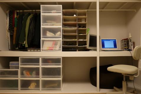 IKEA(イケア)の「ALGOT(アルゴート)」というオープン収納。シンプル
