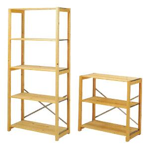 無印良品スチールユニットシェルフ木製棚セット・ワイド大・奥行41センチ(